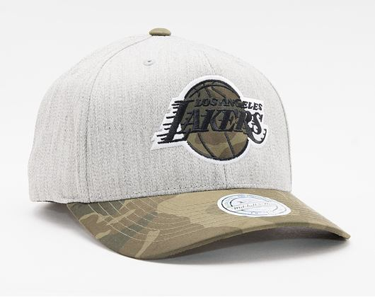 Kšiltovka Mitchell & Ness INTL851 Los Angeles Lakers Heather Camo 110 Snapback