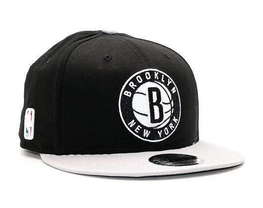 Kšiltovka New Era Team Brooklyn Nets Black 9FIFTY Snapback
