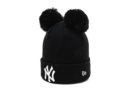 Dětský Kulich New Era New York Yankees Double Bobble Knit Black/White Child