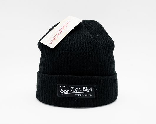 Kulich Mitchell & Ness Box Logo Cuff Knit Black