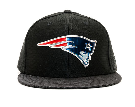 Kšiltovka New Era Black Coll New England Patriots 59FIFTY Black