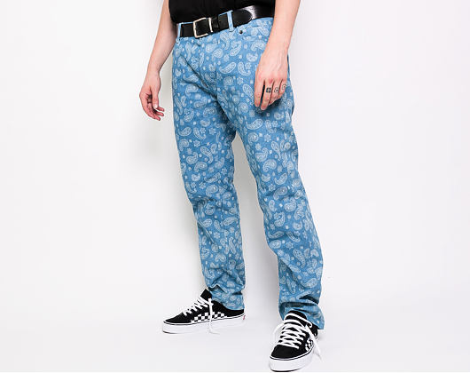 Kalhoty Pleasures Paisley Denim Pant Washed Denim