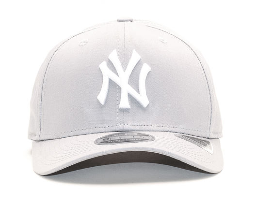 Kšiltovka New Era 9FIFTY New York Yankees Stretch Snap Gray/White