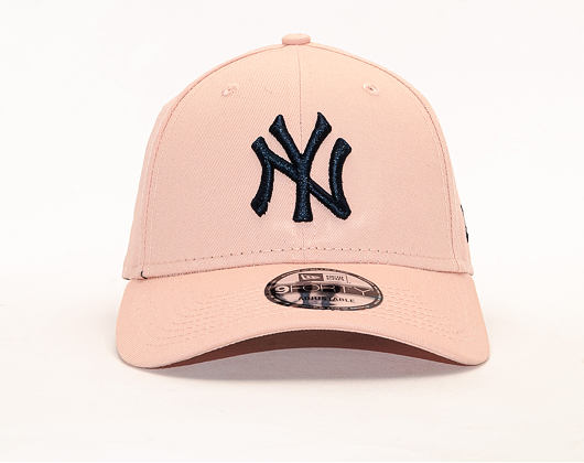 Kšiltovka New Era 9FORTY The League Essential New York Yankees Blush Sky Pink / Navy Strapback