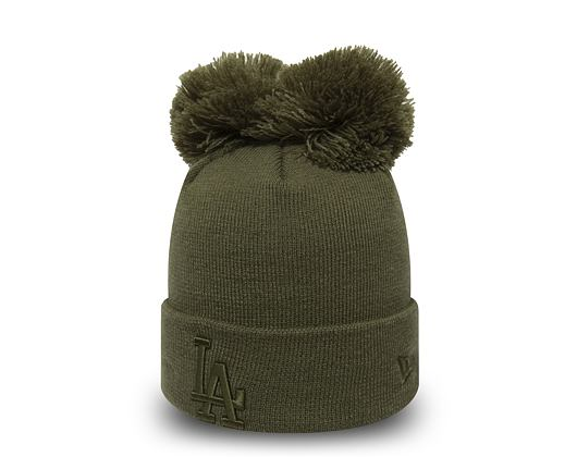Kulich New Era Los Angeles Dodgers Double Pom Cuff Knit New Olive