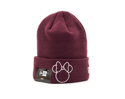 Dětský Kulich New Era Disney Knit Minnie Mouse Youth Frosted Burgundy