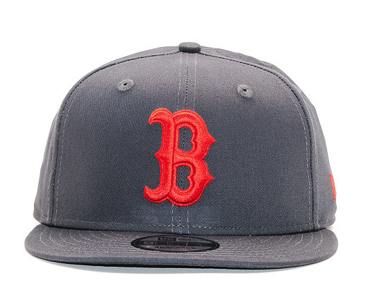 Kšiltovka New Era 9FIFTY Boston Red Sox Grey Heather/Scarlet Snapback