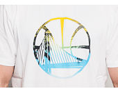Triko New Era Coastal Heat Infill Tee Golden State Warriors White