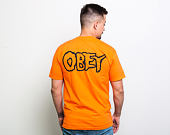 Triko OBEY Misfits Fiend Skulls Orange