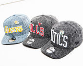 Kšiltovka New Era 9FIFTY Denim Chicago Bulls Black / Team Color Snapback