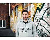 Mikina New Era New York State Hoody Light Grey Heather