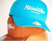 Kšiltovka Mitchell & Ness Pinscript High Crown 110 Teal Snapback