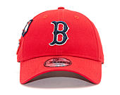 Kšiltovka New Era 9FORTY Boston Red Sox Cooperstown Patched Scarlet