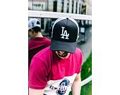 Kšiltovka New Era Clean Los Angeles Dodgers 9FORTY TRUCKER Black/White Snapback