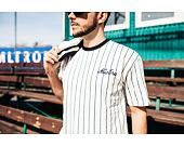 Triko New Era Pinstripe Oversized Tee Off White / Navy