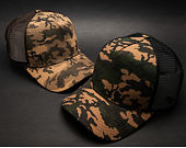 Kšiltovka New Era Seasonal Camo 9FORTY TRUCKER Woodland Camo Snapback