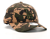 Dámská Kšiltovka New Era Seasonal Camo Los Angeles Dodgers 9FORTY Woodland Camo Strapback