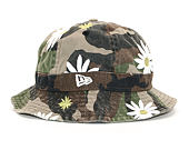 Klobouk New Era Military Bucket Flower Explorer Woodland Camo