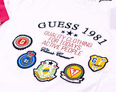 Triko Guess CN SS Tee Patch True White
